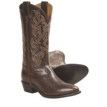 Tony Lama Mr. Medium Buffalo Cowboy Boots - Round Toe (For Men) in Antique Mocha - Closeouts