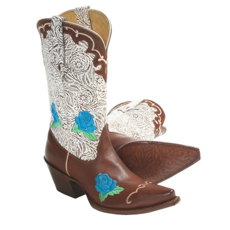 "Tony Lama Sienna fashion Cowboy Boots - Leather, 11"" (For Women) in Peanut"