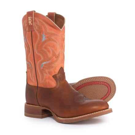"Tony Lama Socorro Cowboy Boots - 11"", Round Toe (For Men) in Cognac - Closeouts"