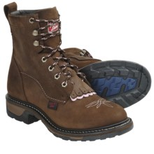 Tony Lama TLX Performance Western Work Boots - Nubuck, LS-Toe (For Women) in Tan - Closeouts