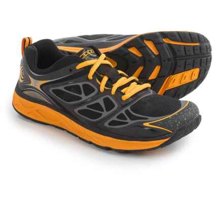 Topo Athletic Fli-Lyte Running Shoes (For Men) in Black/Mango - Closeouts