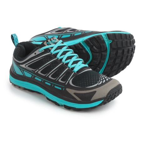 Topo Athletic Runventure Trail Running Shoes (For Women) in Black/Dark Turquoise