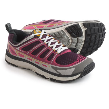 Topo Athletic Runventure Trail Running Shoes (For Women) in Wine/Grey