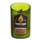 Torched Cherry Merlot Wine Bottle Soy Candle - 12 oz.