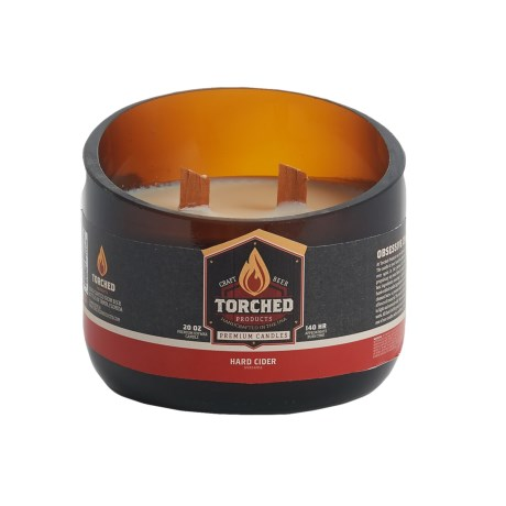 Torched Hard Cider Growler Soy Candle - 2-Wick, 20 oz. in See Photo