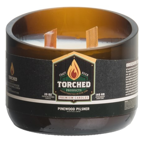 Torched Pinewood Pilsner Growler Soy Candle - 2-Wick, 20 oz.