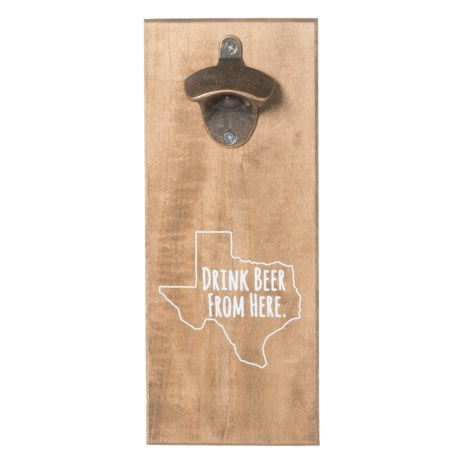 Torched Texas Wood Bottle Opener in See Photo