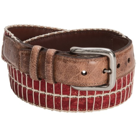 Torino Colored Cork and Cotton Belt (For Men) in Orange