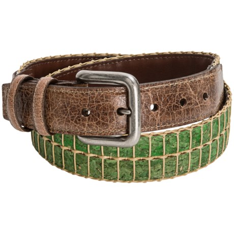 Torino Cork and Cotton Belt (For Men) in Green