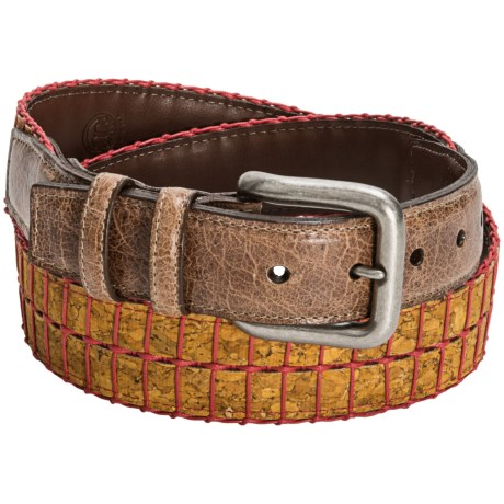 Torino Cork and Cotton Belt (For Men) in Saddle