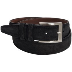 Torino Italian Suede Belt (For Men) in Black