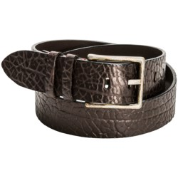 Torino Tumbled Leather Belt (For Men) in Brown