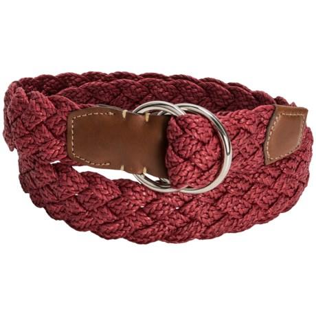 Torino Woven Linen Belt (For Men) in Cranberry