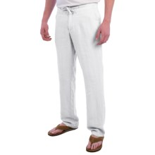 Toscano Aqua Pants - Linen (For Men) in White - Closeouts