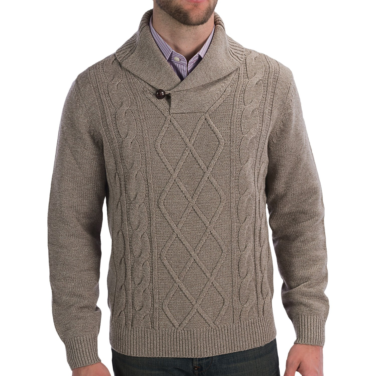 Knitting Sweaters For Men : Toscano cable knit sweater for men save