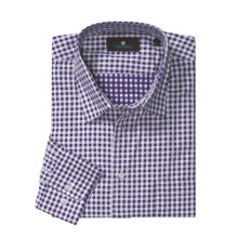 Toscano Check Sport Shirt - Cotton, Long Sleeve (For Men) in Wineberry - Closeouts