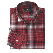 Toscano Cotton Plaid Sport Shirt - Button-Down Collar, Long Sleeve (For Men) in Fire - Closeouts