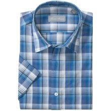 Toscano Cotton Sport Shirt - Short Sleeve (For Men) in Ocean - Closeouts