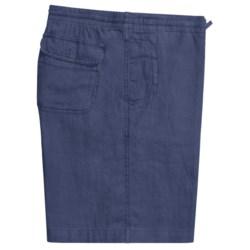 Toscano Drawstring Shorts - Linen (For Men) in White