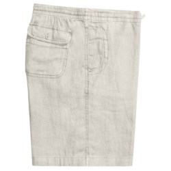 Toscano Drawstring Shorts - Linen (For Men) in White