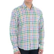 Toscano Fancy Linen Shirt - Long Sleeve (For Men) in Burmuda Pink - Closeouts