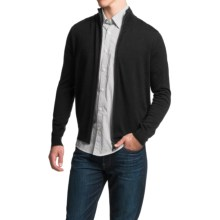 Toscano Full-Zip Cardigan Sweater - Merino Wool (For Men) in Black - Closeouts