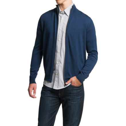Toscano Full-Zip Cardigan Sweater - Merino Wool (For Men) in Cosmos Melange - Closeouts