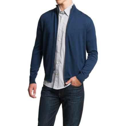 Toscano Full-Zip Cardigan Sweater - Merino Wool (For Men) in Cosmos Melange - Closeouts