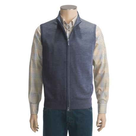 Toscano Full-Zip Vest - Merino Wool (For Men) in 940 Mammoth/Dolphin Moulaine