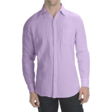Toscano Garment-Washed Linen Shirt - Long Sleeve (For Men) in Purple - Closeouts