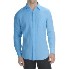 Toscano Garment-Washed Linen Shirt - Long Sleeve (For Men) in Sky Blue - Closeouts