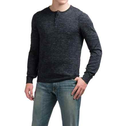 Toscano Henley Sweater - Linen Blend (For Men) in Hound - Closeouts