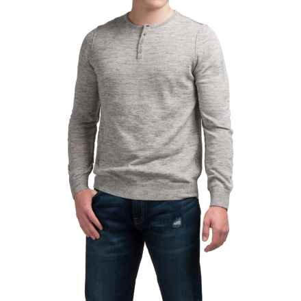Toscano Henley Sweater - Linen Blend (For Men) in New Silver - Closeouts