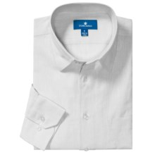 Toscano Linen-Cotton Sport Shirt - Long Sleeve (For Men) in White - Closeouts