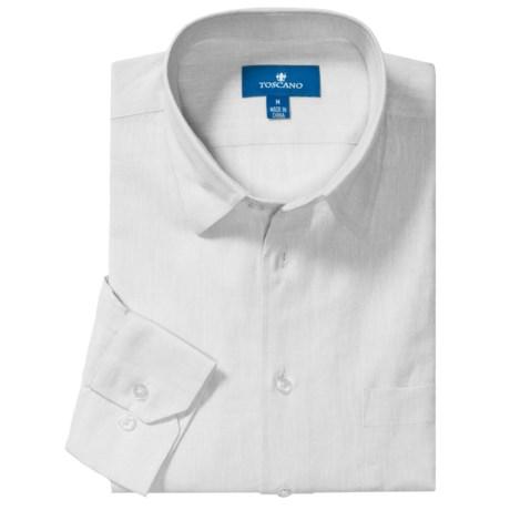 Toscano Linen-Cotton Sport Shirt - Long Sleeve (For Men) in White