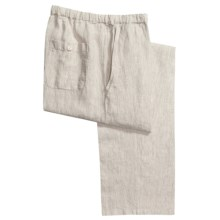 Toscano Linen Drawstring Pants (For Men) in Grain Pencil Stripe - Closeouts