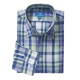 Toscano Linen Plaid Shirt - Long Sleeve (For Men)
