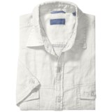 Toscano Linen Shirt with Flap Pockets - Short Sleeve (For Men)