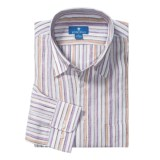 Toscano Linen Stripe Shirt - Long Sleeve (For Men)