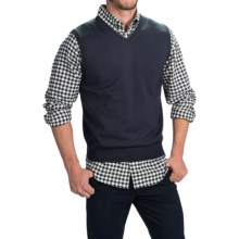 Toscano Merino Wool Vest (For Men) in Dark Midnigt - Closeouts