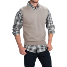 Toscano Merino Wool Vest (For Men) in Earl Grey - Closeouts