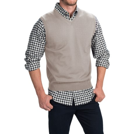 Toscano Merino Wool Vest (For Men) in Flint