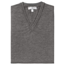 Toscano Merino Wool Vest (For Men) in Black/Taupe