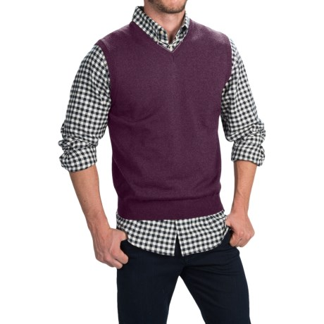 Toscano Merino Wool Vest (For Men) in Pompeii