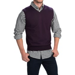 Toscano Merino Wool Vest (For Men) in Port