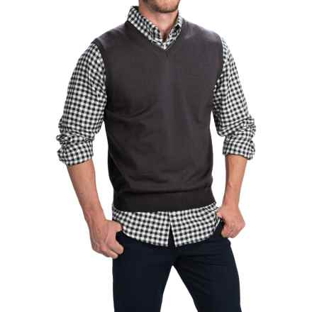 Toscano Merino Wool Vest (For Men) in Shadow Melange - Closeouts