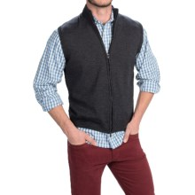 Toscano Merino Wool Vest - Full Zip (For Men) in Shadow Melange - Closeouts