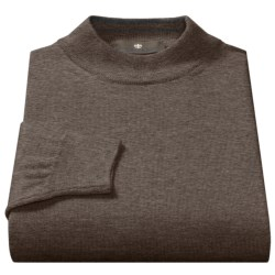 Toscano Mock Turtleneck Sweater - Italian Merino Wool (For Men) in Cosmos Melange