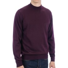 Toscano Mock Turtleneck Sweater - Italian Merino Wool (For Men) in Port - Closeouts