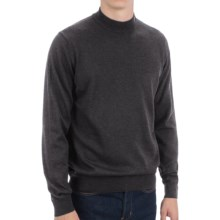 Toscano Mock Turtleneck Sweater - Italian Merino Wool (For Men) in Shadow Melange - Closeouts